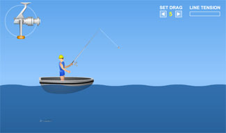 Bigtime Fishing Free Flash Game Screenshot