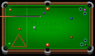 Trick Shot Billiards Flash Game